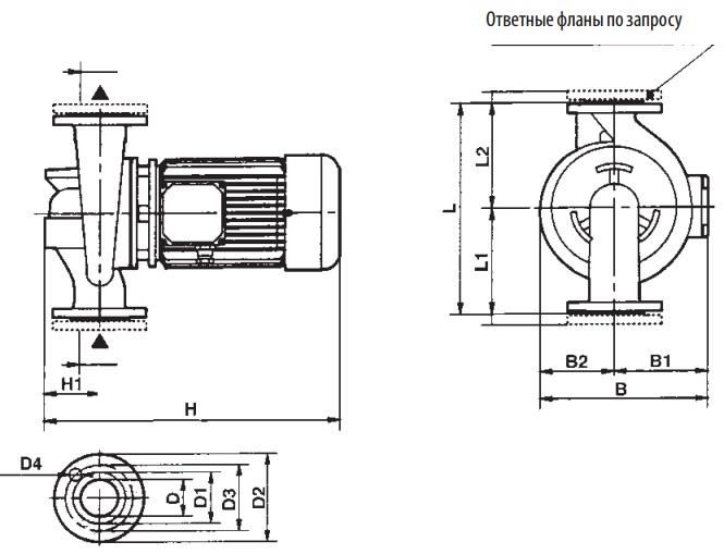 КТЗ 001-100 межфлан. с ответными фланцами и крепежными изделиями